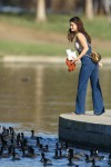 Selena Gomez at Lake Balboa park in Encino 02/02/2018ff6ae0737639553