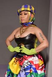 Nicki Minaj - Versace Fashion Show in Milan 9/21/18