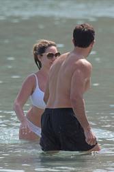 Kelly Brook in White Bikini on the Beach in Mykonos 05/26/2018fa5e4b876418374
