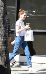 Zoey Deutch - Out for lunch in LA 3/26/18