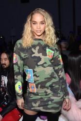Jasmine Sanders - Jeremy Scott Fashion Show in NYC 2/8/18