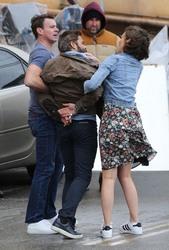 Lauren Cohan - Filming 'Whiskey Cavalier' 2/4/19