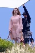 Emma Stone - On set of a photoshoot in Malibu 4/27/18
