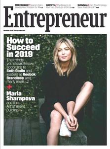 Maria Sharapova -             Entrepreneur Magazine December (2018).