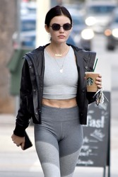 Lucy Hale Getting Coffee in Studio City, California - 10/3/18