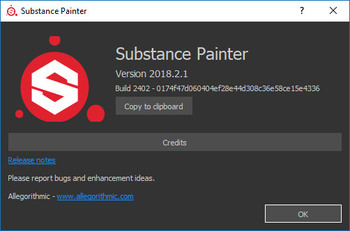 Allegorithmic Substance Painter 2018.2.1 Build 2402