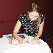 Melissa Benoist - Caricature Unveiled at Sardi's in NYC 7/31/18