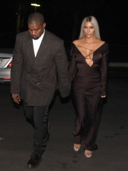Kim Kardashian - Arriving at Ellen Degeneres's Birthday Party in LA 2/10/18