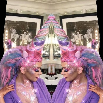 Christina Aguilera - Dressed as a Unicorn for Halloween 10/31/17