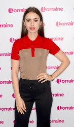 Lily Collins - At 'Lorraine' TV Show in London 12/20/18