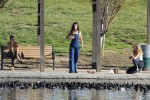 Selena Gomez at Lake Balboa park in Encino 02/02/20189b8939737644263