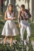 Hailey Baldwin - Wearing a bikini on set of a photoshoot in LA 12/4/2018 865de71053696724
