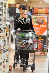 Emma Roberts - Grocery shopping in LA 1/17/19