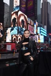 Bella Hadid - Bulgari B.Zero1 Jewelry Billboard Unveiling in NYC 2/7/18