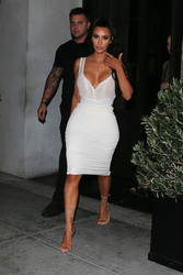 Kim Kardashian - Out for dinner in LA 6/30/18