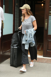 Minka Kelly - Leaving her hotel in NYC 8/20/18