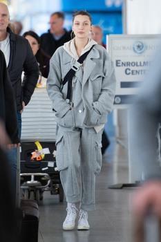 Bella Hadid - At JFK Airport 3/6/19