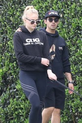 Sophie Turner - Hiking with friends out in Beverly Hills - April 7, 2018