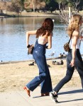 Selena Gomez at Lake Balboa park in Encino 02/02/201843c4b7737641423