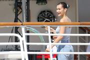 Bella Hadid boarding a yacht in Monaco 05/25/2018c929e1876374914