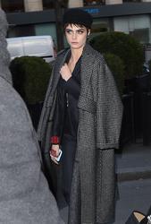 Cara Delevingne - Arriving at L'Avenue restaurant in Paris 2/27/18