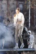 Gigi Hadid - On set of a photoshoot in NYC 1/11/19