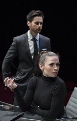 Hayley Atwell Performing in the Play Dry Powder at the Hampstead Theatre in London - 1/31/18