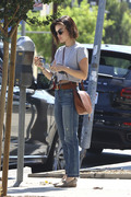 Lucy Hale - Leaving Starbucks in Studio City 8/3/18