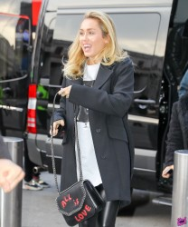 Miley Cyrus - Arriving at Madison Square Garden in NYC 1/30/18