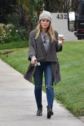 Hilary Duff - Out in Toluca Lake 2/10/18
