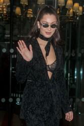 Bella Hadid - Leaving her hotel in Paris 1/20/18