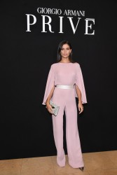 Sara Sampaio - Giorgio Armani Prive Haute Couture Fashion Show in Paris 1/23/18