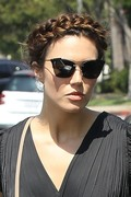 Mandy Moore - Leaving a hair salon in Beverly Hills 8/16/18