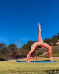 Britney Spears Doing Yoga in a Bikini - 5/4/19 Instagram Video