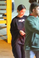Selena Gomez - Leaving church in Beverly Hills 1/3/18