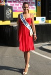 Marine Lorphelin (Miss France 2013) acting as a hostess at the Tour de France 7/9/13