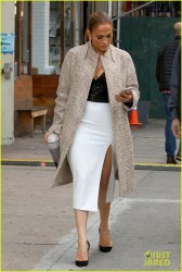 Jennifer Lopez - On the set of 'Second Act' in NYC 10/30/17