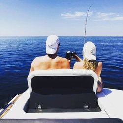 Elisha Cuthbert Fishing in Prince Edward Island in Canada - 7/6/18 Instagram