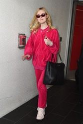 Elle Fanning - At LAX Airport 3/11/18