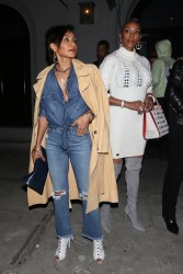 Jada Pinkett Smith -  Waits For Her Car After Dinner at Craig's in West Hollywood (2/3/18)