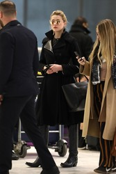 Amber Heard - At Charles de Gaulle Airport 1/20/19