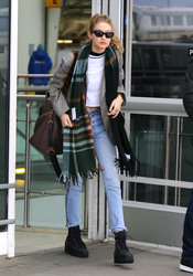 Gigi Hadid - At JFK Airport 3/5/18
