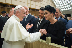 Katy Perry and Orlando Bloom Meeting The Pope in Vatican City - 4/28/18