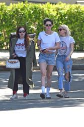 Kristen Stewart - Leaving Little Dom's Italian restaurant in Los Feliz 4/25/19