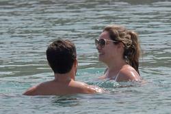 Kelly Brook in White Bikini on the Beach in Mykonos 05/26/2018e87800876420064