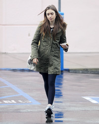 Lily Collins - Grocery shopping in West Hollywood 2/5/19