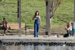Selena Gomez at Lake Balboa park in Encino 02/02/2018975e8a737644473