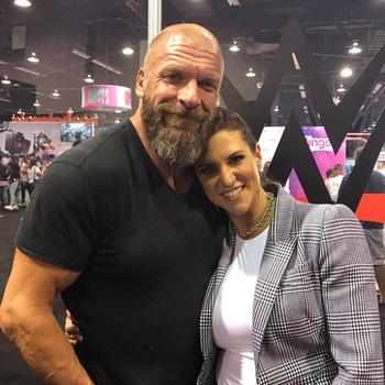 Stephanie McMahon - Big Boobs In Tight White Shirt At VidCon 2019