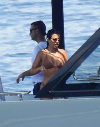 Kourtney Kardashian - Bikini candids in Portofino 7/8/18