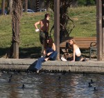 Selena Gomez at Lake Balboa park in Encino 02/02/201858e86f737642723